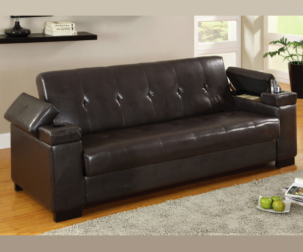 Logan Adjustable Sofa Bed Futon With Storage