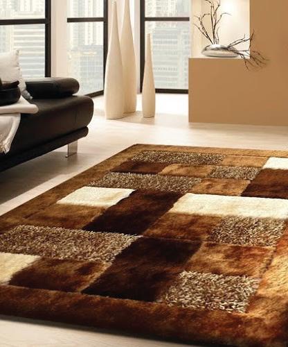 Viscose Shaggy Design 30 Brown Area Rug