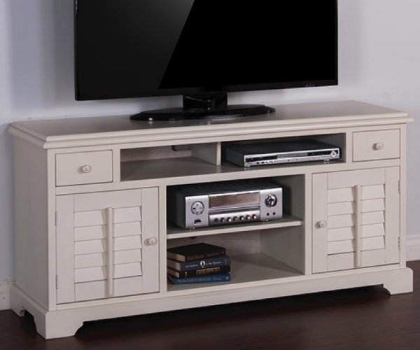 Vintage White Wood Tv Console