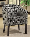 CHARLOTTE BARREL BACK ACCENT CHAIR