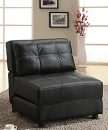 BLACK LOUNGER LEATHERETTE CHAIR
