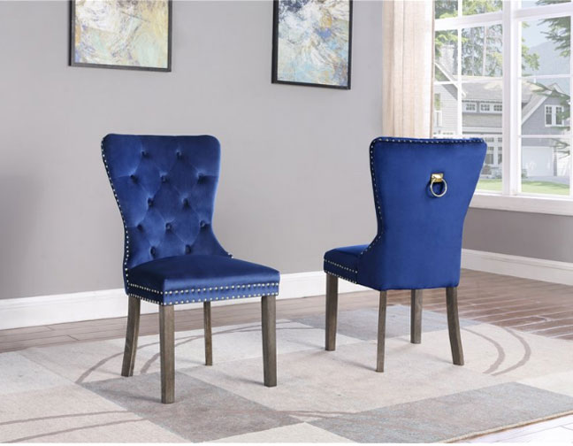 Marvelous Divante Blue Velvet Tufted Dining Chair Bralicious Painted Fabric Chair Ideas Braliciousco