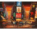 TIME SQUARE BY NIGHT HAND PAINTED OIL PAINTING