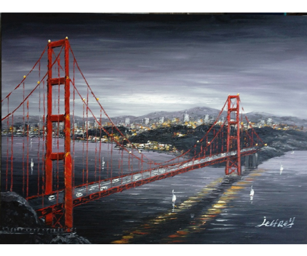 San Francisco Golden Bridge Hand Painted Oil Painting