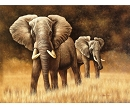 ELEPHANT HERD HAND PAINTED OIL PAINTING