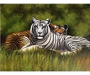 TIGERS CAVE HAND PAINTED OIL PAINTING