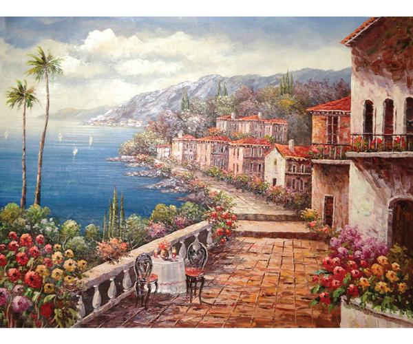 La Tuscany Ii Hand Painted Oil Painting
