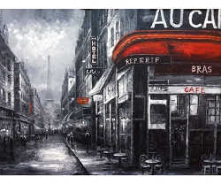 AU CAFE AT NIGHT HAND PAINTED OIL PAINTING