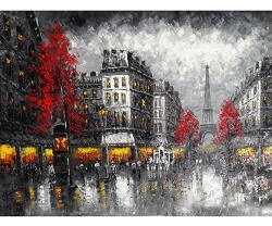 PARIS QUARTER HAND PAINTED OIL PAINTING