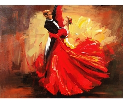THE TANGO HAND PAINTED OIL PAINTING