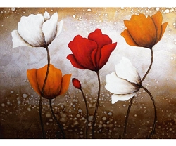 WILD POPPIES HAND PAINTED OIL PAINTING