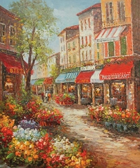 FLORAL DISTRICT HAND PAINTED OIL PAINTING