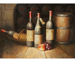 STILL LIFE WINE III HAND PAINTED OIL PAINTING