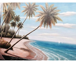 PALM TREE HAND PAINTED OIL PAINTING