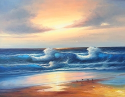 OCEAN BREEZE HAND PAINTED OIL PAINTING