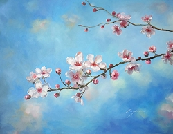 SAKURA BLOSSOM HAND PAINTED OIL PAINTING