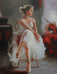 BALLERINA HAND PAINTED OIL PAINTING
