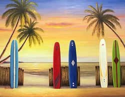 SURF UP HAND PAINTED OIL PAINTING
