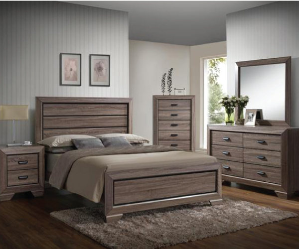 Farrow rustic chocolate 4 pieces bedroom suite for Rustic bedroom furniture suites