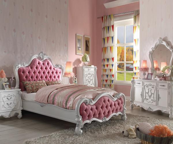 Versailles antique white bedroom collection - New classic versailles bedroom set ...