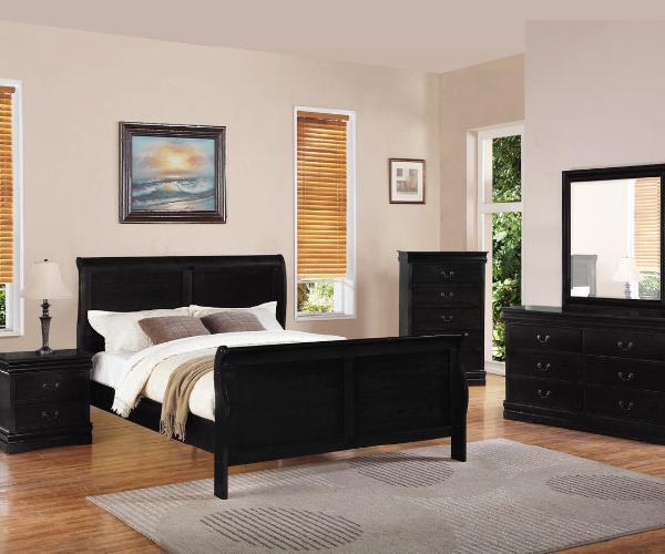 Double Black Louis Phillips Bedroom Suite