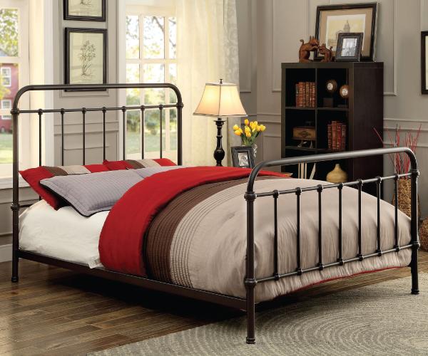 Iria Dark Bronze Metal Bed