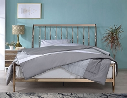 MARIANNE COPPER METAL QUEEN BED