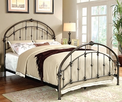 CARTA BRUSHED BRONZE METAL BED