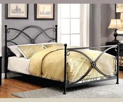 ZARIA CONTEMPORARY MATTE BLACK METAL BED