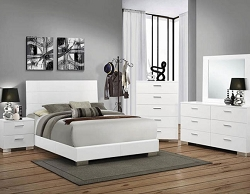 FELICITY GLOSSY WHITE  BEDROOM SUITE SPECIAL