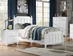 WELLSUMMER MODERN FARMHOUSE WHITE YOUTH BED