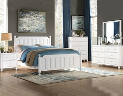 WELLSUMMER MODERN FARMHOUSE WHITE BEDROOM SUITE