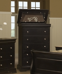 THE BELLE ROSE 5 DRAWERS CHEST WITH LIFT TOP
