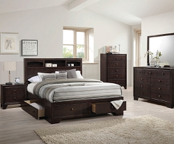 MADISON II ESPRESSO FINISH STORAGE BEDROOM SET