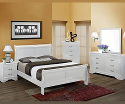 WHITE LOUIS PHILLIPS BEDROOM SUITE