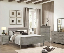 GRAY LOUIS PHILLIPS BEDROOM SUITE