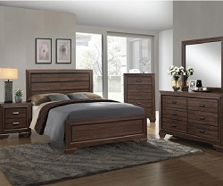 FARROW RUSTIC CHOCOLATE 4 PIECES BEDROOM SUITE