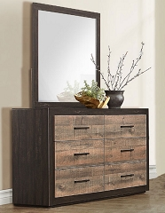 MITER LOW PROFILE STORAGE BEDROOM SET DRESSER