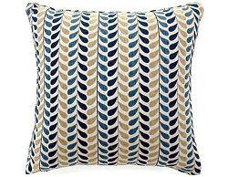 DROPP BLUE AND YELLOW ACCENT PILLOW