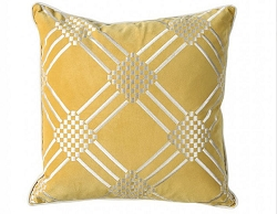 SAM SILVER AND GOLD POLYESTER VELVET ACCENT PILLOW
