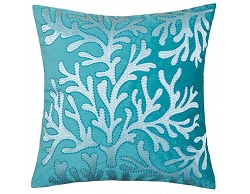JUNE EMBROIDERED FEATHER FILL ACCENT PILLOW