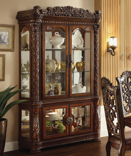 Vendome Collection Cherry Finish Curio Cabinet