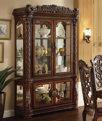 VENDOME COLLECTION CHERRY FINISH CURIO CABINET