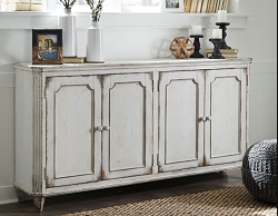 MIRIMYN ANTIQUE WHITE 68 INCHES ACCENT CABINET