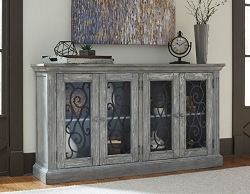 MIRIMYN DISTRESS VINTAGE PAINTED 65 INCHES ACCENT CABINET