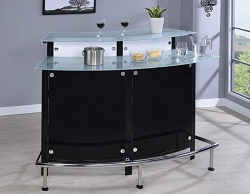 BLACK AND WHITE MODERN CURVE BAR UNIT