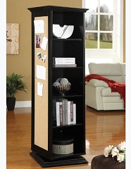 SWIVEL 4 SIDE CABINET WITH SHELVES AND CORK BOARD