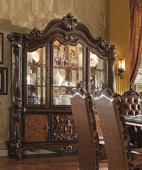 VERSAILLES COLLECTION CHERRY OAK HUTCH AND BUFFET