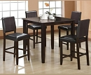 DERICK 5 PIECE COUNTER HEIGHT DINING SET