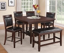 FULTON 5 PIECES COUNTER HEIGHT SET WITH LAZY SUZANN